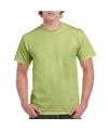 Pistachegroen katoenen shirt voor volwassenen