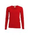 Rood damesshirt lange mouw