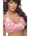Roze hawaii bloemen top