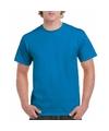 Saffierblauw katoenen shirt voor volwassenen