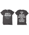 Sons of anarchy grijs shirt heren