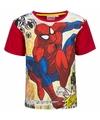 Spiderman t shirt rood voor jongens