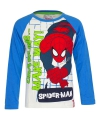 Spiderman t shirt wit met blauw