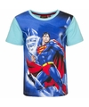 Superman t shirt blauwe mouw