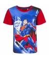 Superman t shirt rode mouw