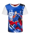 Superman t shirt witte mouw