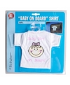 T shirt baby on board meisje voor in de auto