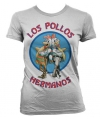 T shirt breaking bad los pollos grijs dames