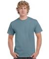 T shirt stone blauw