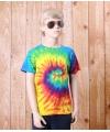 Tie dye t shirt rainbow voor kinderen
