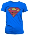 Vintage superman logo t shirt dames
