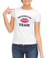 Vrijgezellen team t shirt wit dames