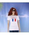 Wit dames t shirt frankrijk