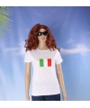 Wit dames t shirt italie