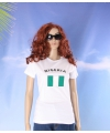 Wit dames t shirt nigeria