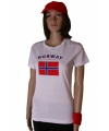 Wit dames t shirt noorwegen