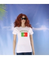 Wit dames t shirt portugal