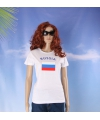 Wit dames t shirt rusland