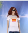 Wit dames t shirt spanje