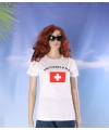 Wit dames t shirt zwitzerland
