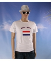 Wit heren t shirt holland
