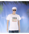 Wit heren t shirt italie