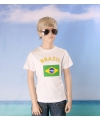 Wit kinder t shirt brazilie