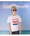 Wit kinder t shirt kroatie