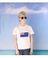 Wit kinder t shirt nieuw zeeland