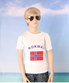 Wit kinder t shirt noorwegen