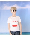 Wit kinder t shirt polen