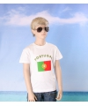 Wit kinder t shirt portugal