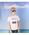 Wit kinder t shirt rusland