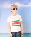 Wit kinder t shirt suriname
