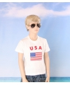 Wit kinder t shirt usa