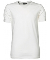 Wit stretch shirt met v hals