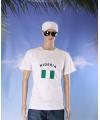 Wit t shirt nigeria volwassenen