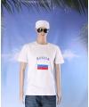 Wit t shirt rusland volwassenen