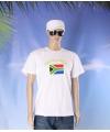 Wit t shirt zuid afrika volwassenen