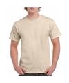 Zandkleur katoenen shirt voor volwassenen