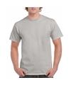 Zinkgrijs katoenen shirt voor volwassenen