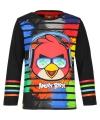 Zwart angry birds t shirt voor kinderen