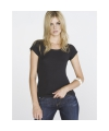Zwart dames t shirt bella