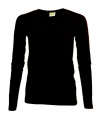 Zwart damesshirt lange mouw