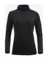 Zwarte col t shirt dames