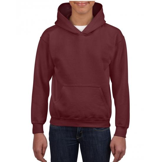 Bordeaux capuchon sweater voor jongens