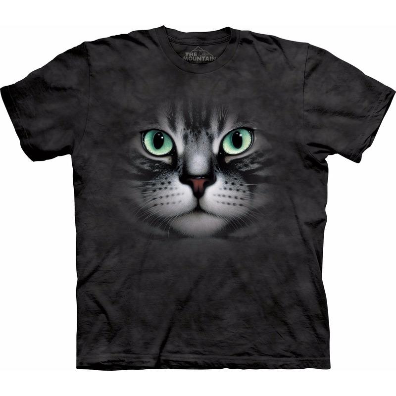 Cyperse kat/poes T shirt voor volwassenen