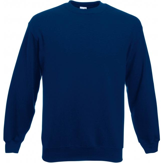 a068704c71b Navy blauwe Fruit of the Loom sweater ronde hals | Altijd de ...