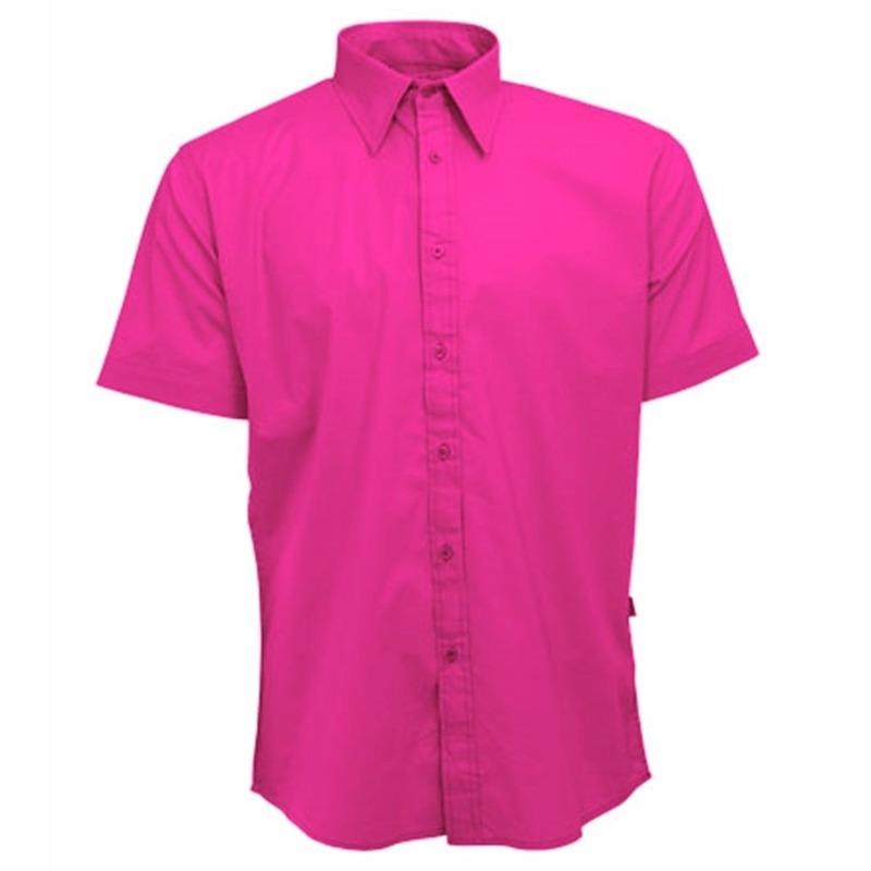 Roze Overhemd Heren Korte Mouw.Overhemd Met Korte Mouw Voor Heren Roze Altijd De Goedkoopste