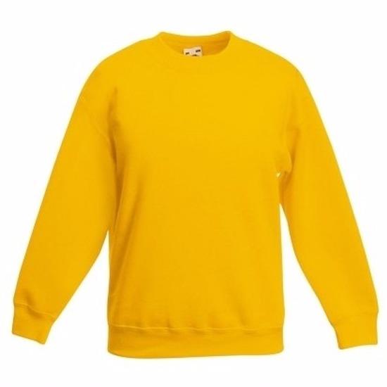 Gele katoenmix sweater voor meisjes